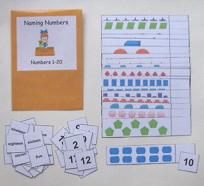1 Game Center (Teacher Made Math Center Reource Game Naming Numbers Counting 1-20 )