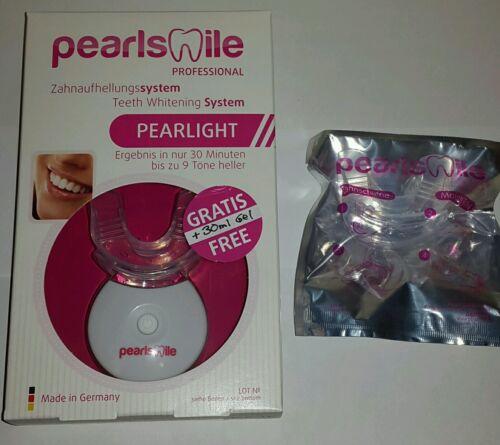 Pearlsmile Homeset Neu&Ovp Zahnaufhellung bis zu 9 Tönen Pulver&Ersatzschiene