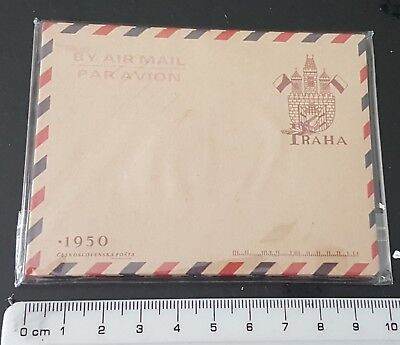 Vintage Envelopes Mini Retro Airmail Brown Kraft Paper x 10  - UK Supplier PRAHA