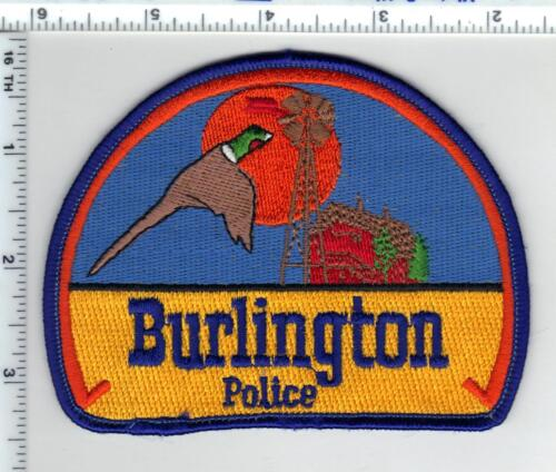 Burlington Police (Colorado) Shoulder Patch - new from the 1980