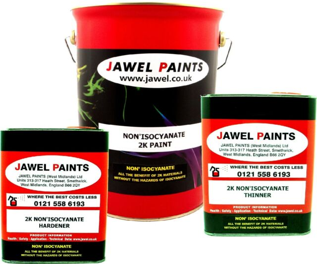 2K PAINT ACRYLIC SUPER BLACK  DIRECT GLOSS NONE ISOCYANATE 10 Litre Kit