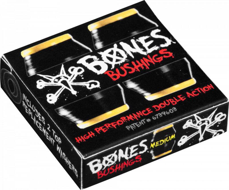 Bones Skateboard Truck Bushings Hardcore Medium 91A Black - For 2 Trucks