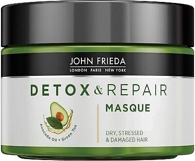 John Frieda Detox & Repair Masque for Dry, STRESSED & Damaged Hair with Avocado