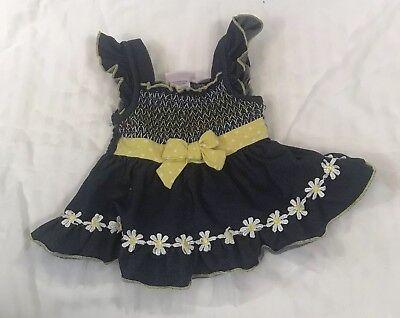LITTLE LASS BLUE YELLOW DAISY CHAIN BABY GIRL DRESS SIZE 12 MONTHS ADORABLE ()