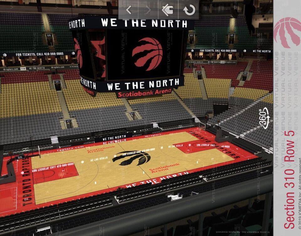 738eb0f9ac8 Raptors vs Magic Row 5 (Centre View) | Tickets | City of Toronto ...