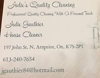 Jodie's quality cleaning with a personal touch!!
