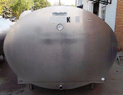 1000 Gallon Mueller Oh14052 Stainless Steel Bulk Milk Cooling Farm Tank