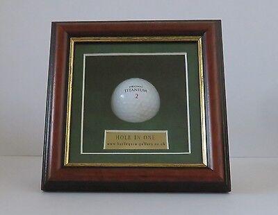"Golf Ball. Display / Presentation Case. "" Hole In One """