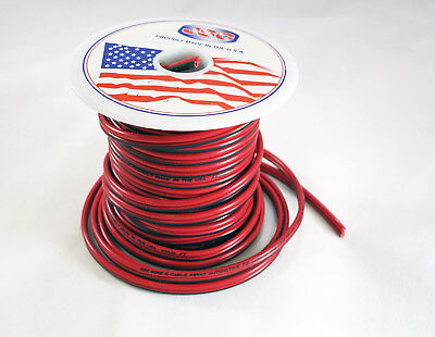 18 Awg 50 Jsc Redblack Stranded Copper Zip Wire Cable Cord Power Gauge Ga