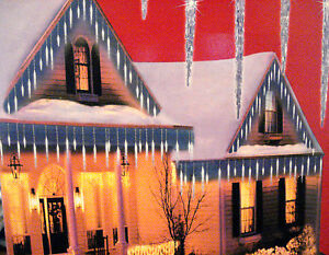 CHRISTMAS-25-LED-BLUE-ICY-ICICLE-LIGHTS-YARD-INDOOR-OUTDOOR-NEW