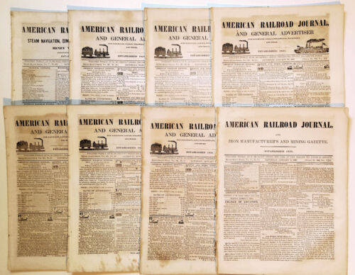 American Railroad Journal and General Advertiser, 1847-1849 - 8 Issues