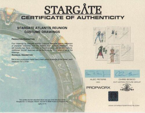 Stargate Atlantis- Orignal Art -Propworx Certificate