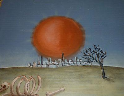 Endzeit oder die Tomatenfabrik Kernkraftwerk Phantastischer Realismus um 1970