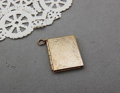 (Book Locket Gold Tone 1