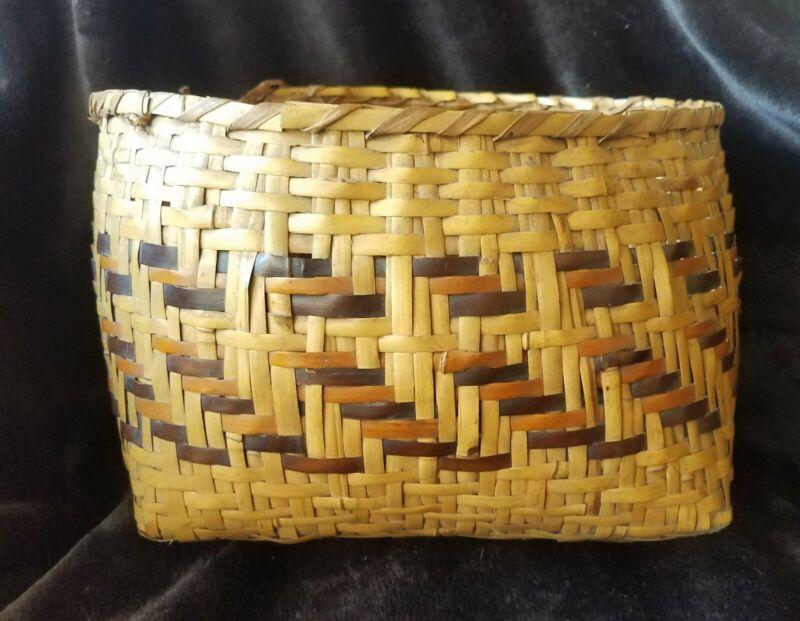 Early Rivercane basket, Cherokee, NC