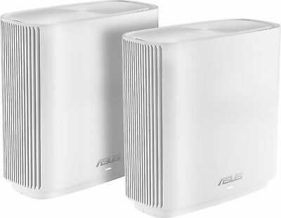 ASUS - ZenWiFi AC Tri-Band Mesh Wi-Fi Router  - White