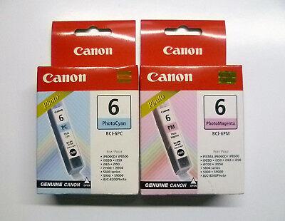 Canon Set BCI-6PC BCI-6PM BCI-6 BJC-8200 Phtoto Pixma i9100 i9950 i990 i965 i950 (Canon Bci-6 Pc)