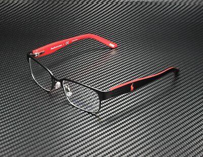 RALPH LAUREN POLO PREP PP8036 3136 Black Red Demo Lens 46 mm Unisex Eyeglasses