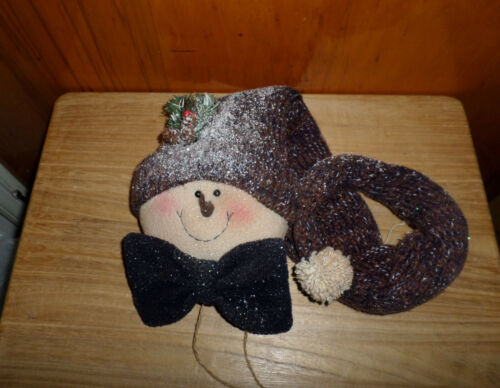 New Glitter Snowman With Jingle Bells Decoration -  Christmas - Winter - NWOT