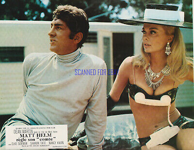 THE WRECKING CREW DEAN MARTIN SHARON TATE ORIGINAL 1969 FRENCH LOBBY PHOTO