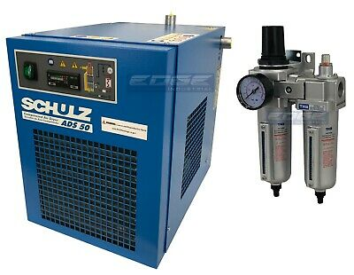 Schulz 50 Cfm Refrigerated Compressed Air Compressor Dryer 115v Complete Kit