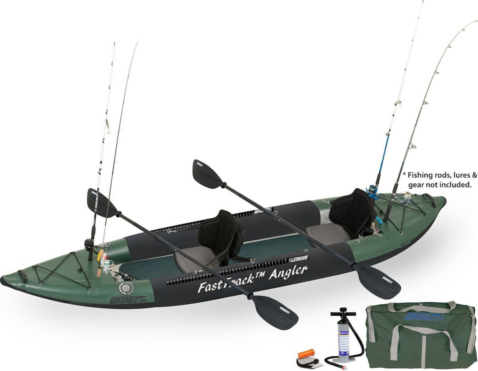 sea eagle 385fta fast track inflatable fishing kayak pro angler package