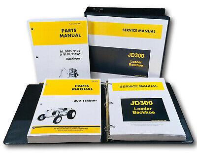 Service Parts Manual John Deere 300 Jd300 Industrial Tractor Loader Backhoe Set