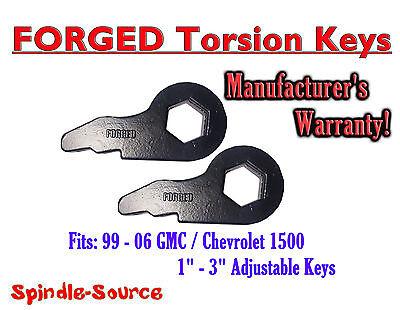 New Torsion Leveling FRONT FORGED LIFT KEYS 1999 - 2006 Chevrolet GMC 1500 3in Chevrolet Torsion Keys