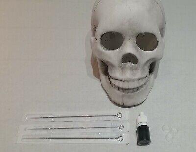 TATTOO KIT HAND POKE STICK & POKE NEEDLES INK DIY PRISON STYLE UK NO MACHINE