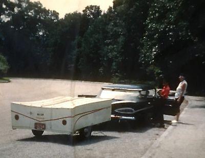 5 Vintage 1964 Original Camping Pop-up Camper Trailer 35mm Slides 59 Chevy Car