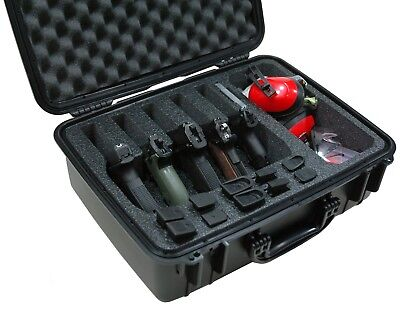 Case Club Waterproof 5 Pistol Case & Accessory Pocket with Silica Gel (Club Case)