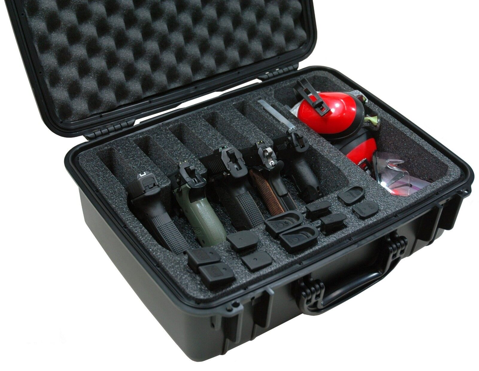 Case Club Waterproof 5 Pistol Case & Accessory Pocket with S