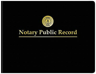 Adams Notary Public Record Journal, 11 x 8.5 Inches, 6 Entries Per Page, 63 P...