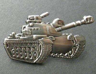 US ARMY PATTON M-60 TANK MILITARY VEHICLE LAPEL PIN BADGE 1.25 INCHES