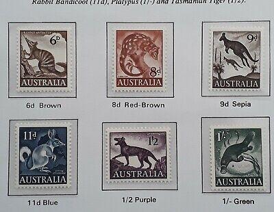 1959/62 Australia set of Australian Native Animals Stamps Mint