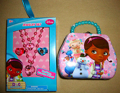 DISNEY JUNIOR- DOC MCSTUFFINS TIN PURSE & JEWELRY SET Necklace, Bracelet & Rings](Doc Mcstuffins Bracelet)