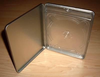 3 Blu Ray Hüllen metalisch Metalcase Steelbook silber grau Blu-Ray Leerhülle Neu