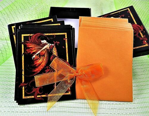Fairy Art Firedance Blank Greeting Cards 17 With 19 Envelopes Amy Brown Fantasy