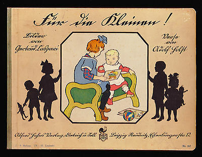 - Early 20th Century German Children's Board Book; Color Illustrations by Caspari