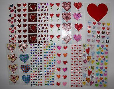 Mrs. Grossman sticker 1 sheet hearts love valentine's - You Choose](Valentine Stickers)