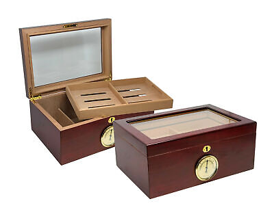 THE Berkeley Glass Top Cigar Humidor by Prestige Import Group