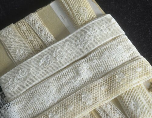 Lot Vintage Embroidered Netlace Trims  VV520