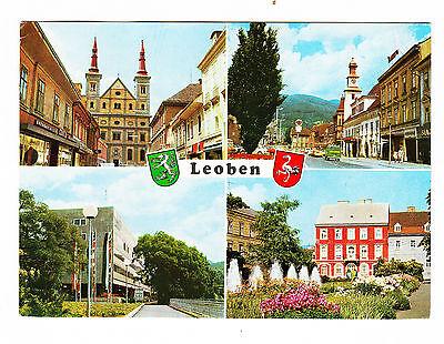 Alte Ansichtskarte Postkarte Österreich Leoben Mehrbild gelaufen