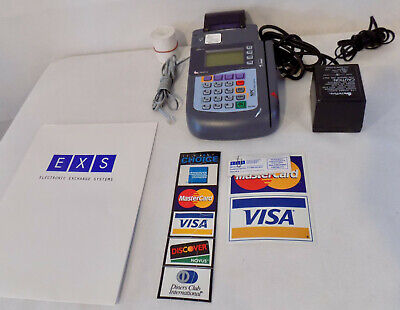 Verifone Omni 3200 P092-101-03 Credit Card Terminal Machine With Power Supply