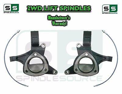 "2016+ Chevrolet Silverado 1500 2WD 5"" Lift Spindles + Brake Lines STAMPED / ALUM"