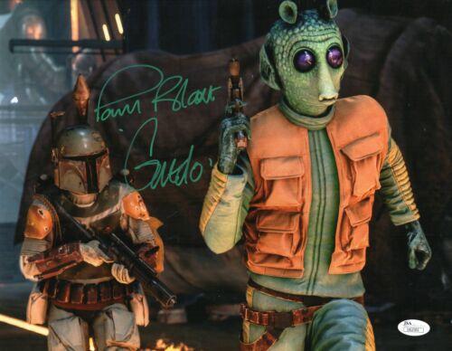 "Paul Blake Autograph Signed 11x14 Photo - Star Wars ""Greedo"" (JSA COA)"