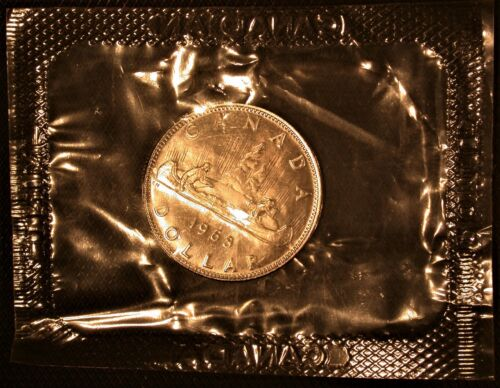 1968 Proof Like Canadian Dollar in Original Mint Issued Cello