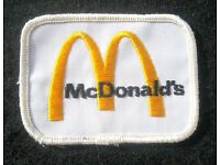 """McDonald/'s patch Golden Arches embroidered McDonalds patch 2.5/"""" dia iron or sew"""
