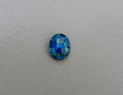 Rainbow oval opal mosaic triplets 10 x 8mm