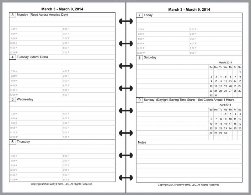 weekly monthly calendar